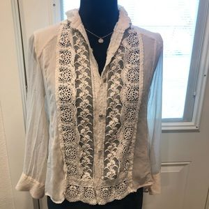 Alice + Olivia lace top